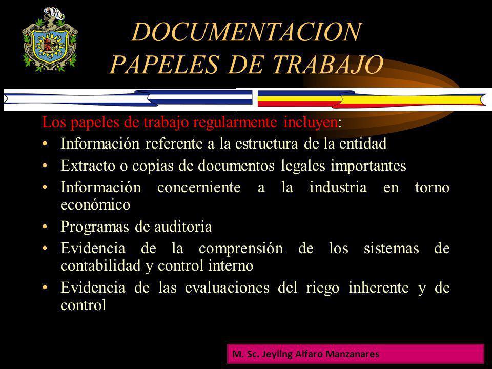 DOCUMENTACION PAPELES DE TRABAJO