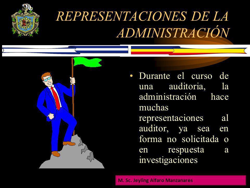 REPRESENTACIONES DE LA ADMINISTRACIÓN