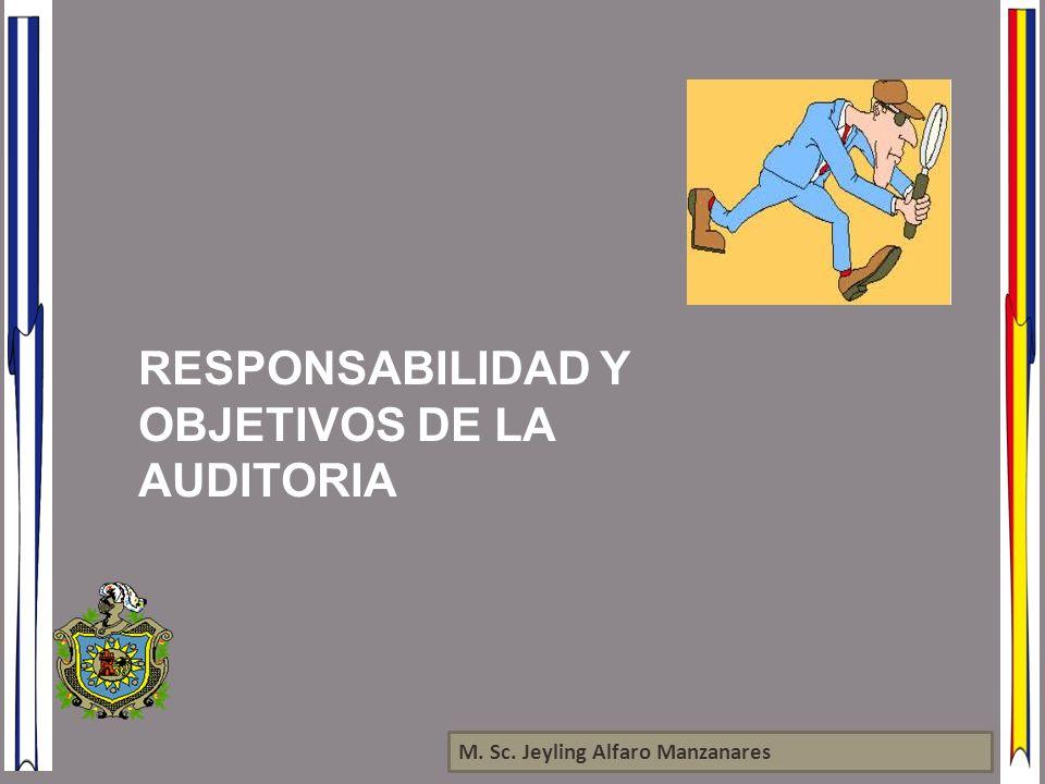 RESPONSABILIDAD Y OBJETIVOS DE LA AUDITORIA