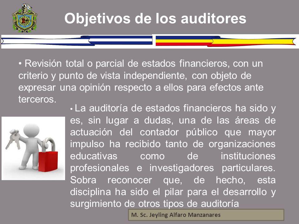 Objetivos de los auditores