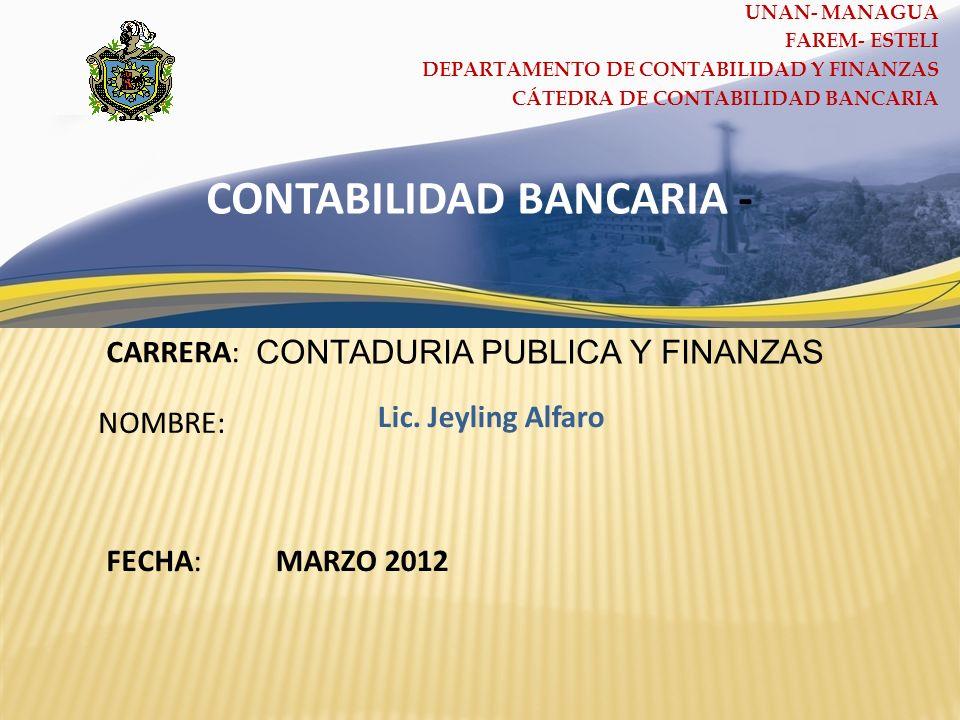 CONTABILIDAD BANCARIA -