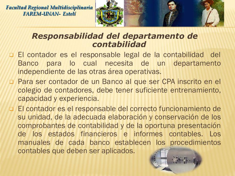 Responsabilidad del departamento de contabilidad