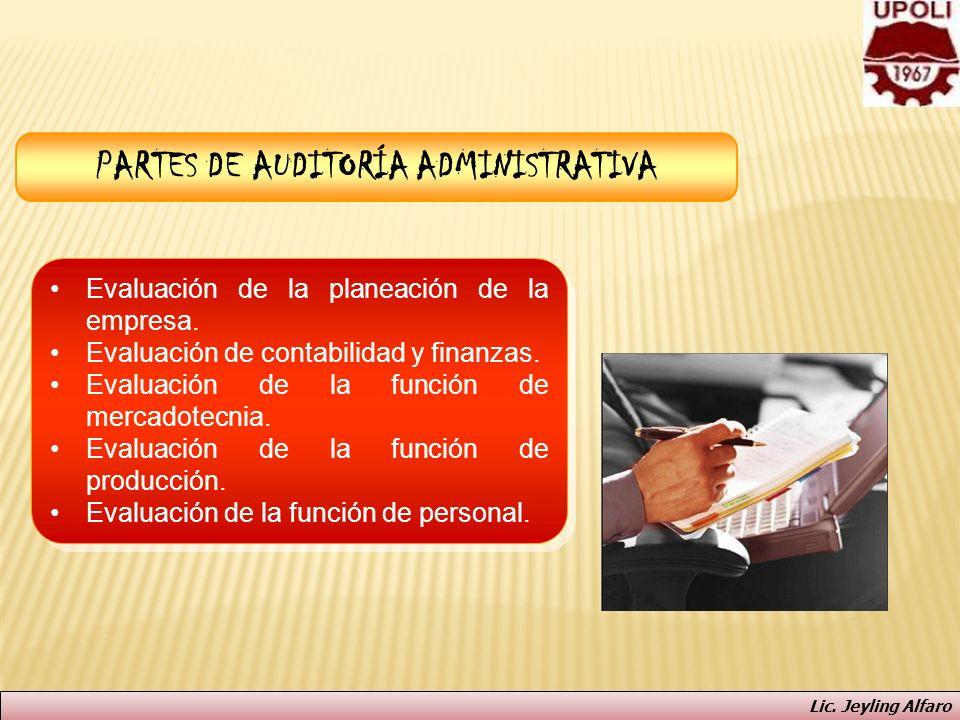 PARTES DE AUDITORÍA ADMINISTRATIVA