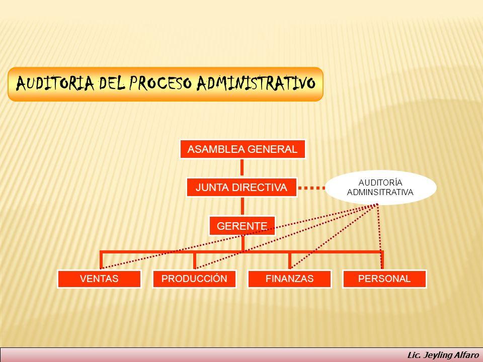 AUDITORIA DEL PROCESO ADMINISTRATIVO