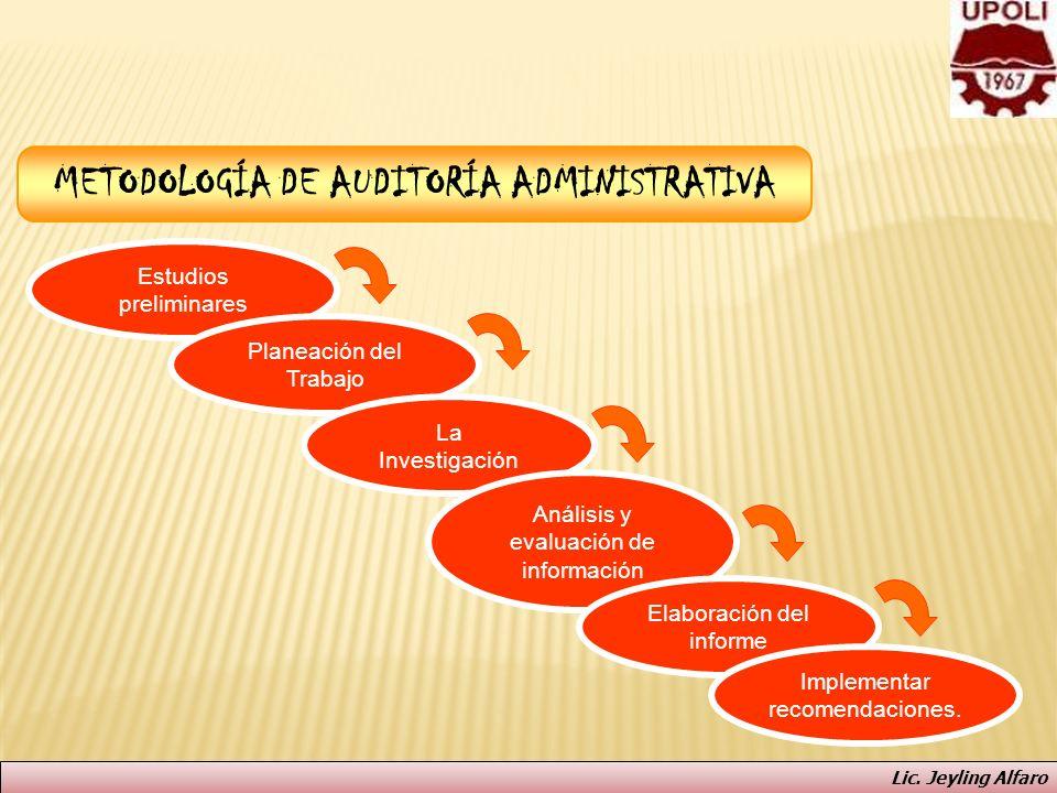 METODOLOGÍA DE AUDITORÍA ADMINISTRATIVA