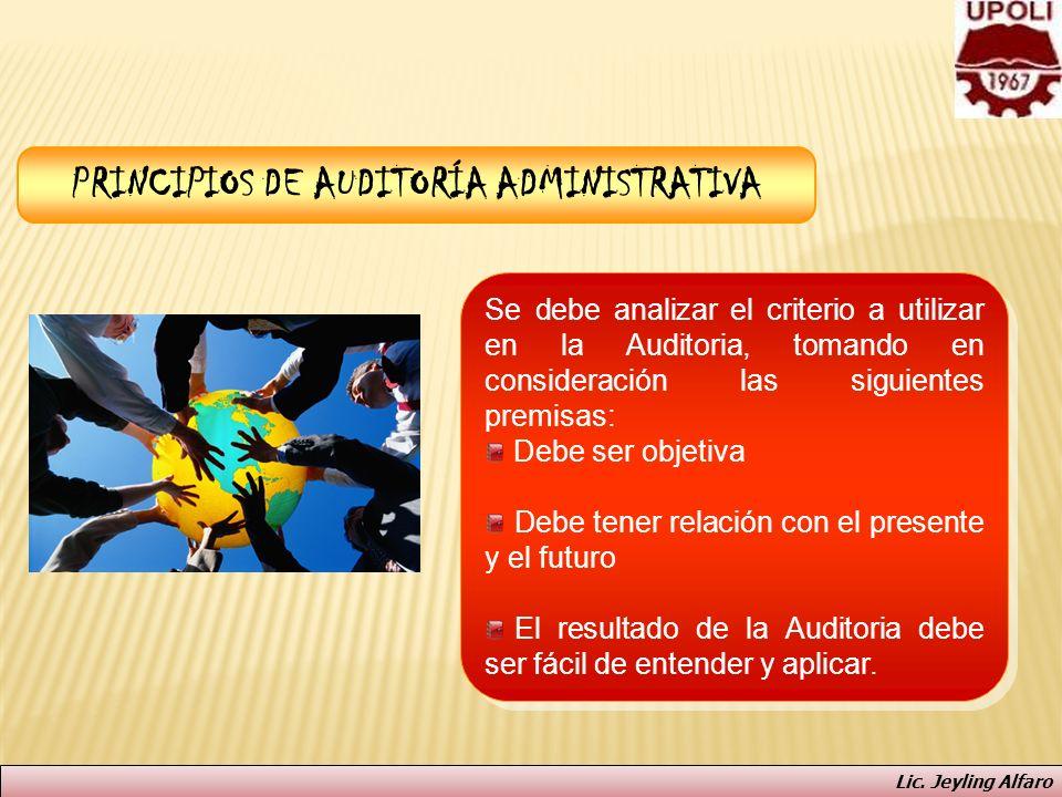 PRINCIPIOS DE AUDITORÍA ADMINISTRATIVA