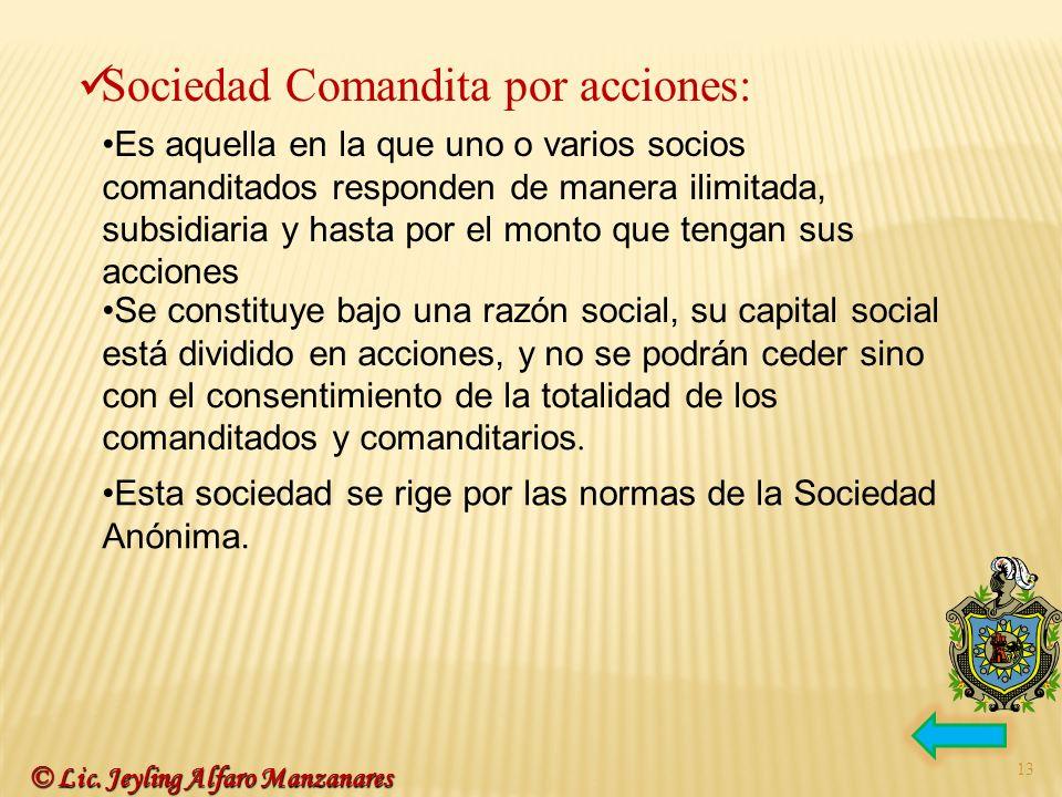 Sociedad Comandita por acciones: