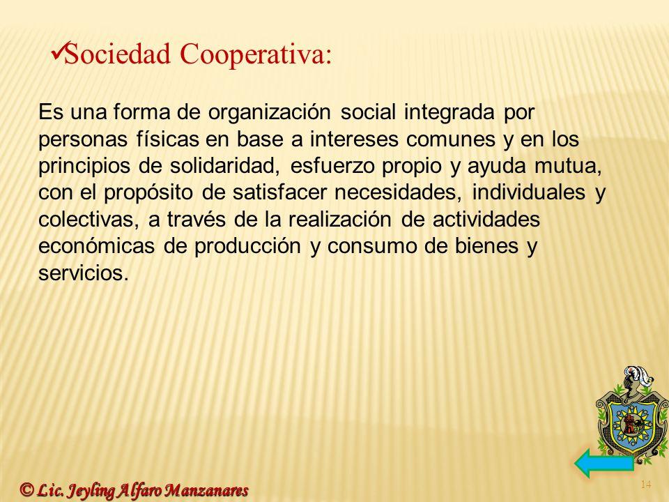 Sociedad Cooperativa: