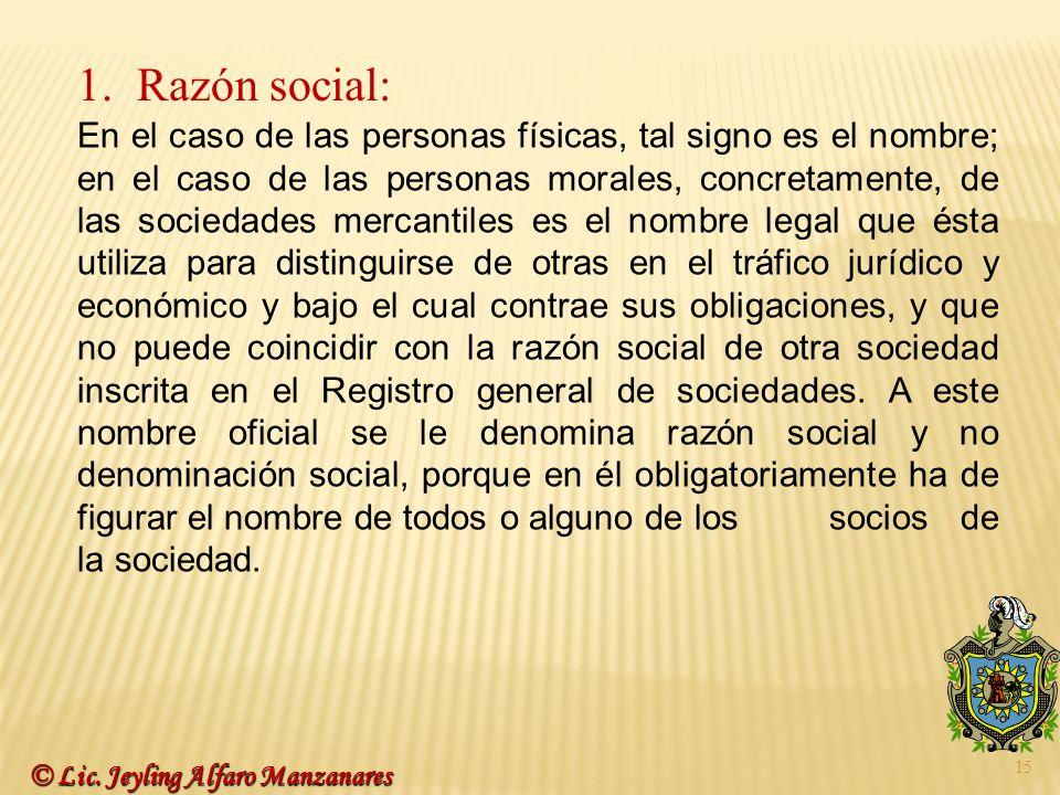 Razón social: