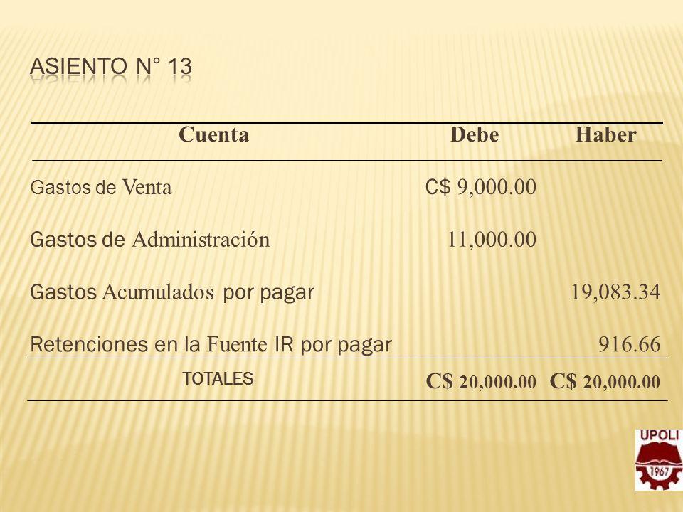 Gastos de Administración 11,000.00