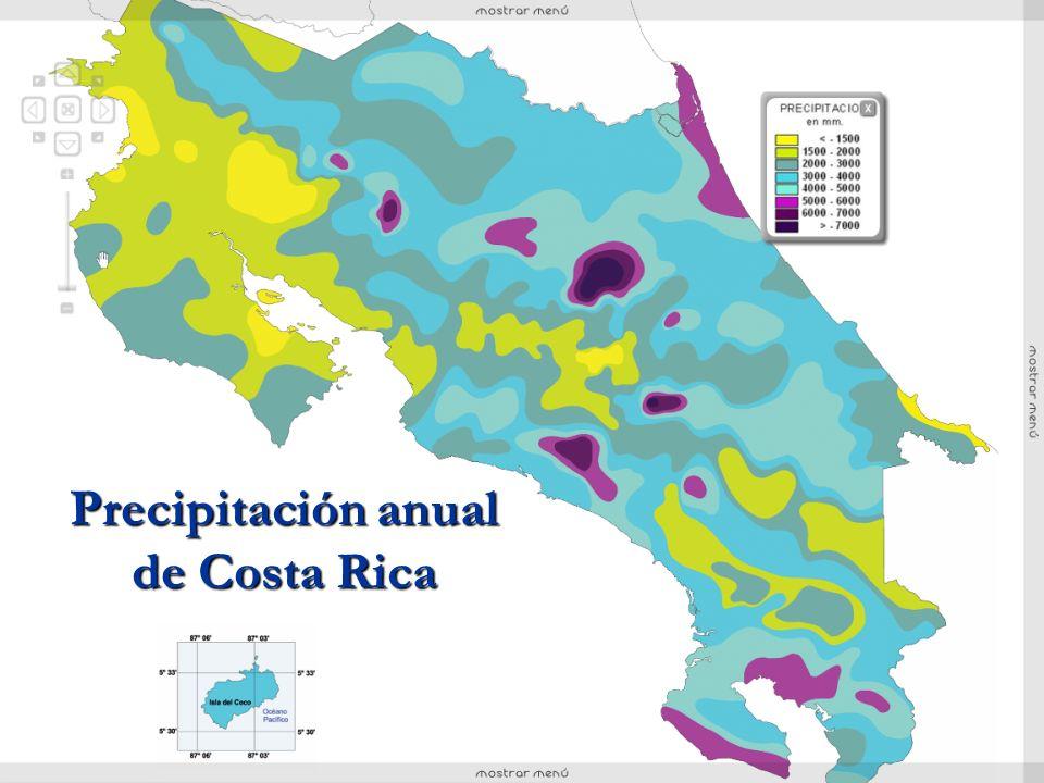 Precipitación anual de Costa Rica