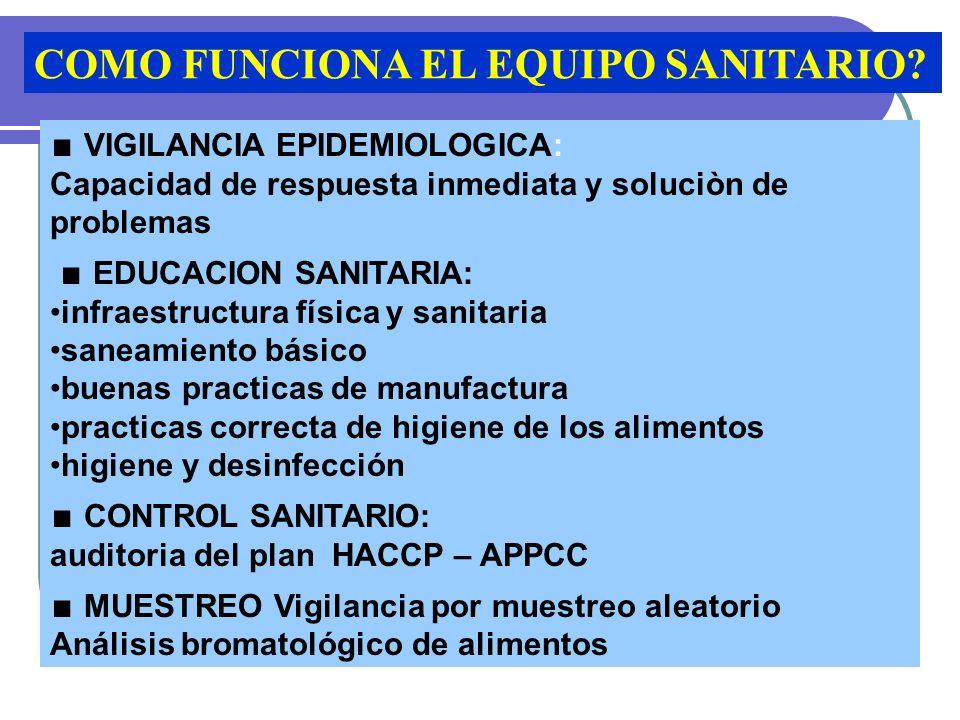 COMO FUNCIONA EL EQUIPO SANITARIO