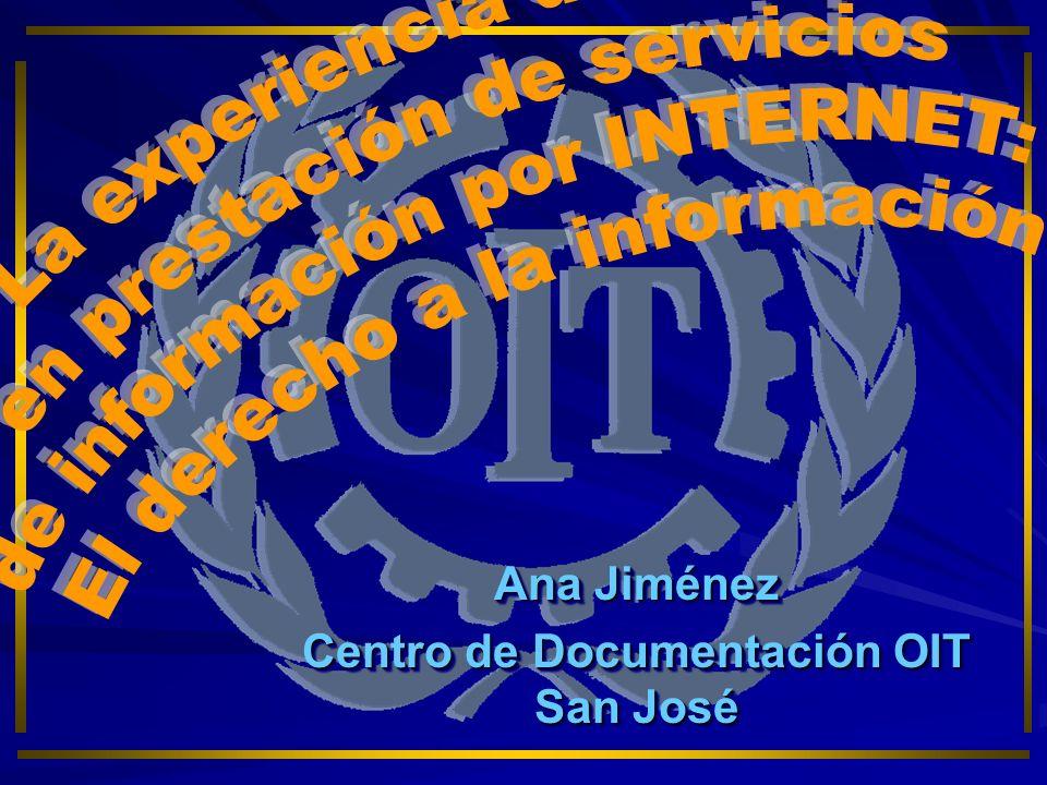 Ana Jiménez Centro de Documentación OIT San José