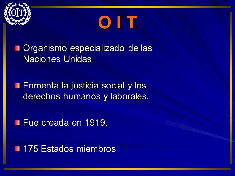 O I T Organismo especializado de las Naciones Unidas