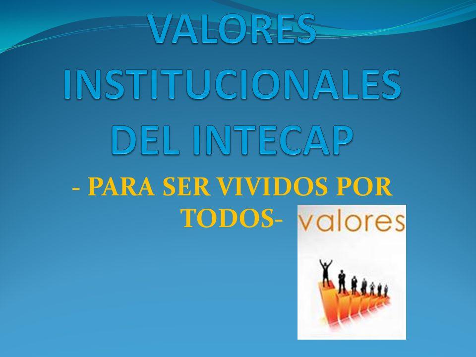 VALORES INSTITUCIONALES DEL INTECAP