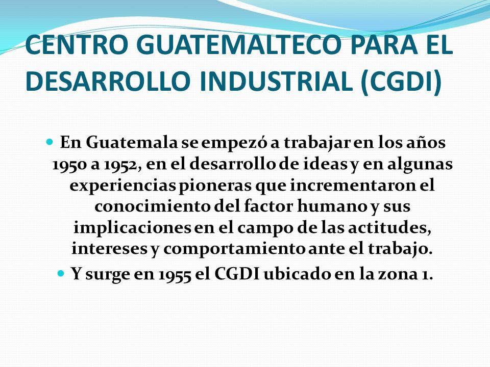 CENTRO GUATEMALTECO PARA EL DESARROLLO INDUSTRIAL (CGDI)