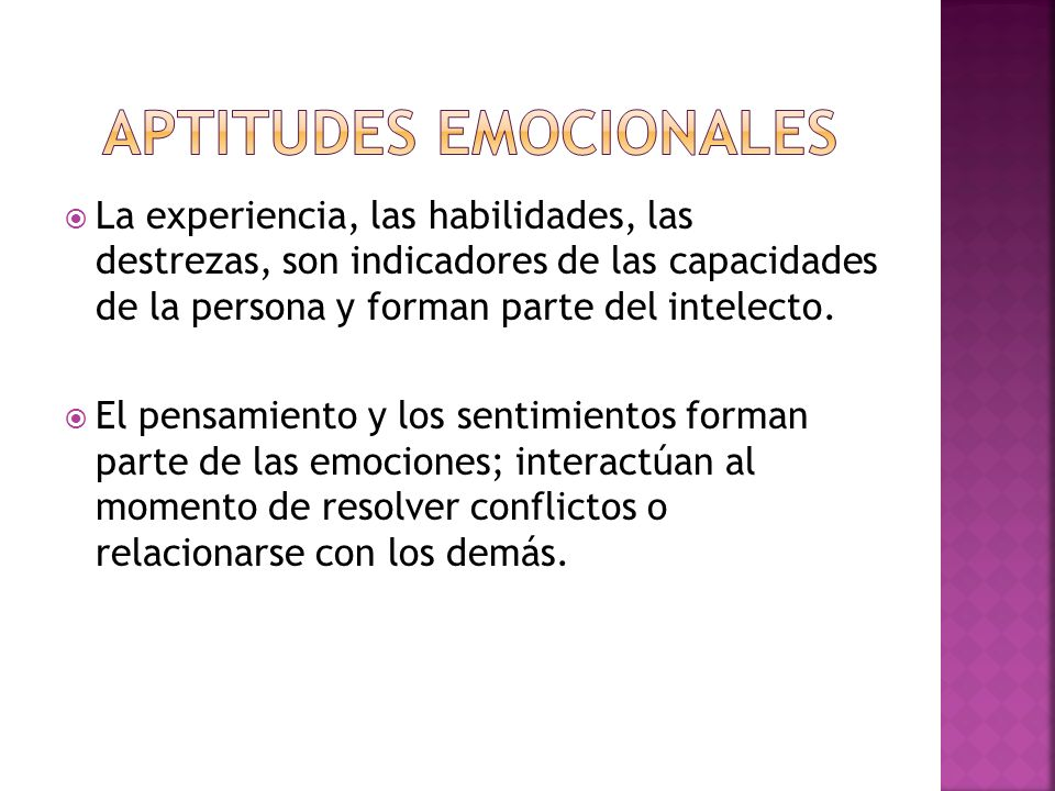APTITUDES EMOCIONALES