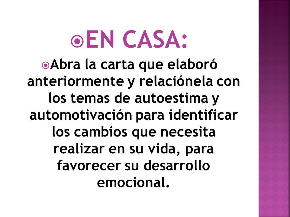 EN CASA: