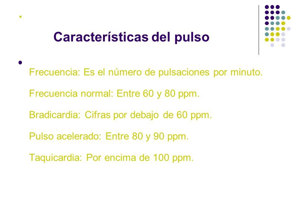 . Características del pulso