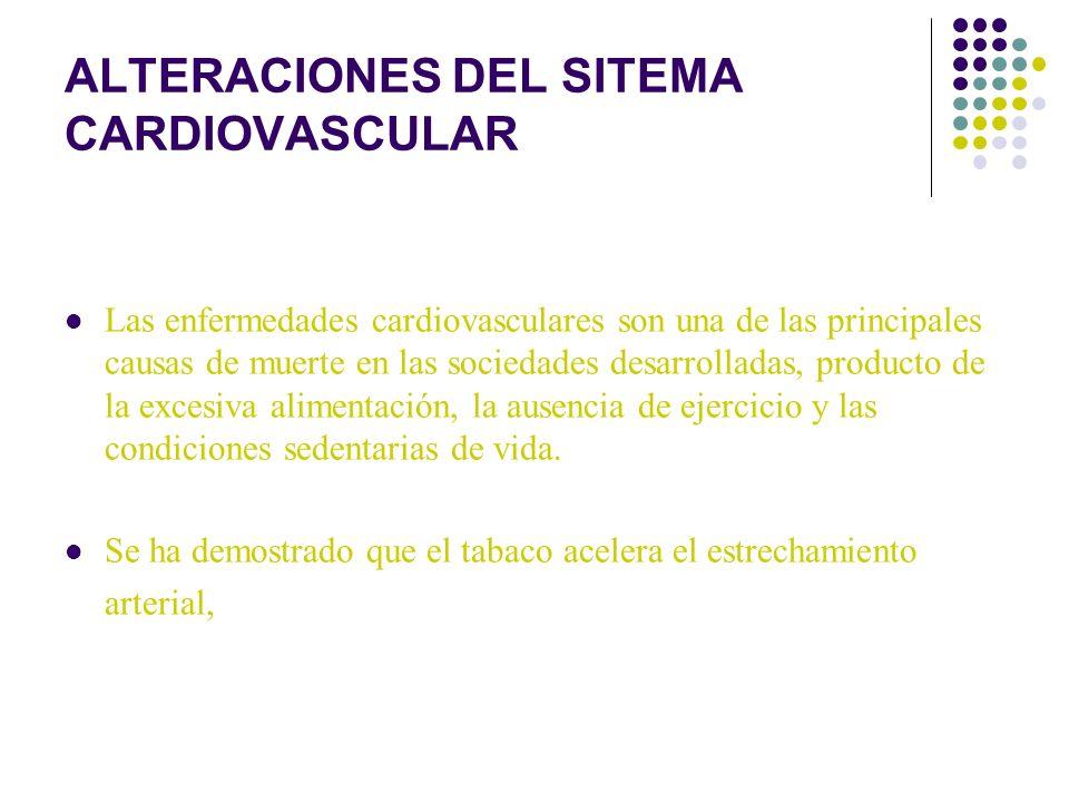 ALTERACIONES DEL SITEMA CARDIOVASCULAR