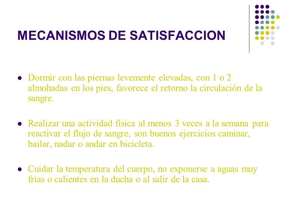 MECANISMOS DE SATISFACCION