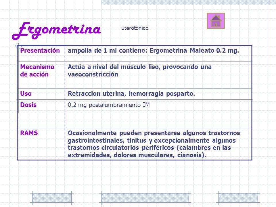 Ergometrina Presentación