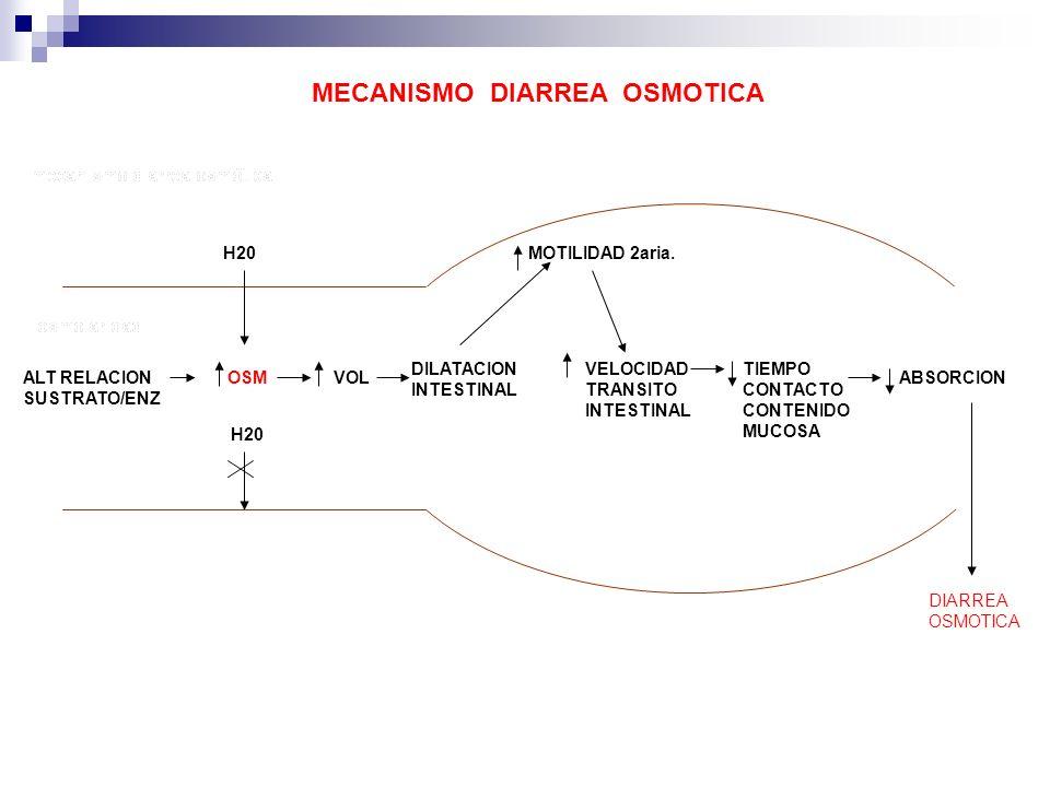 MECANISMO DIARREA OSMOTICA