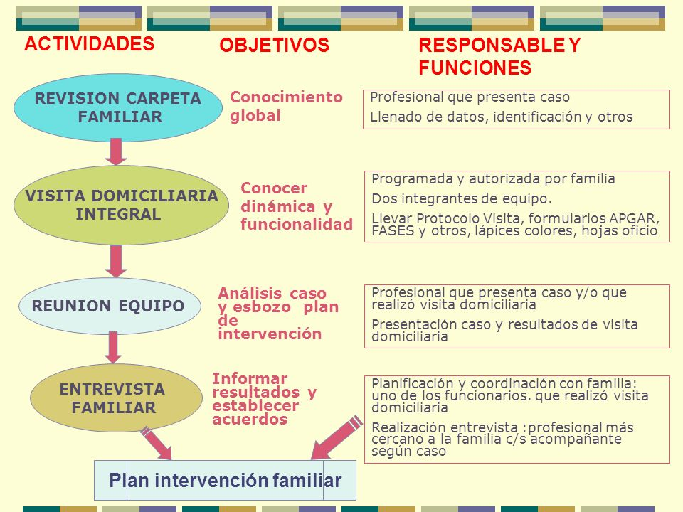 Plan intervención familiar