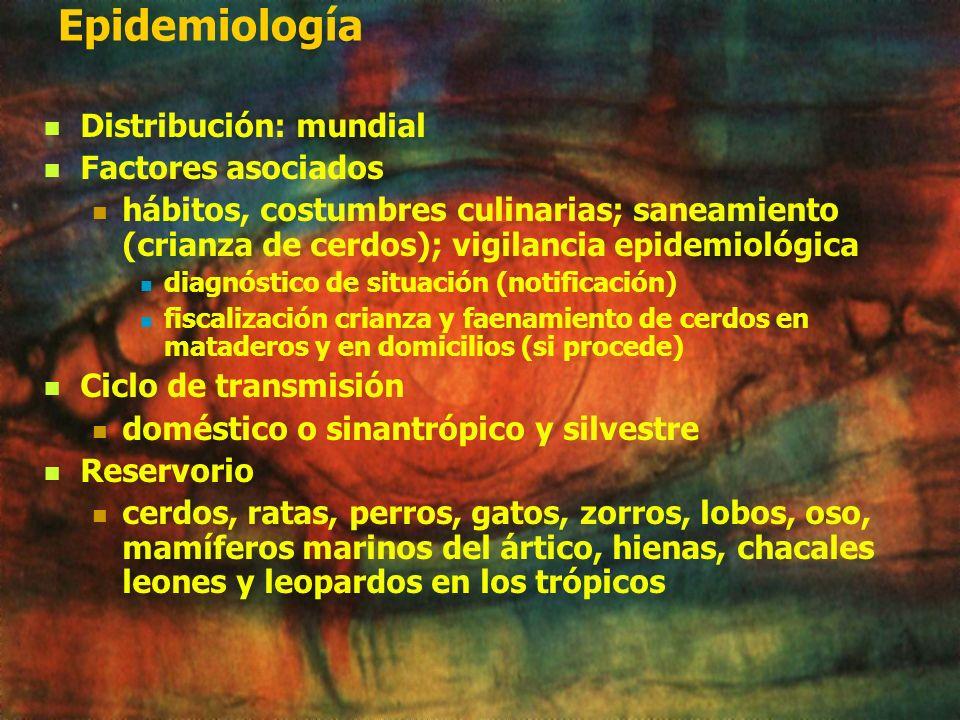 Epidemiología Distribución: mundial Factores asociados