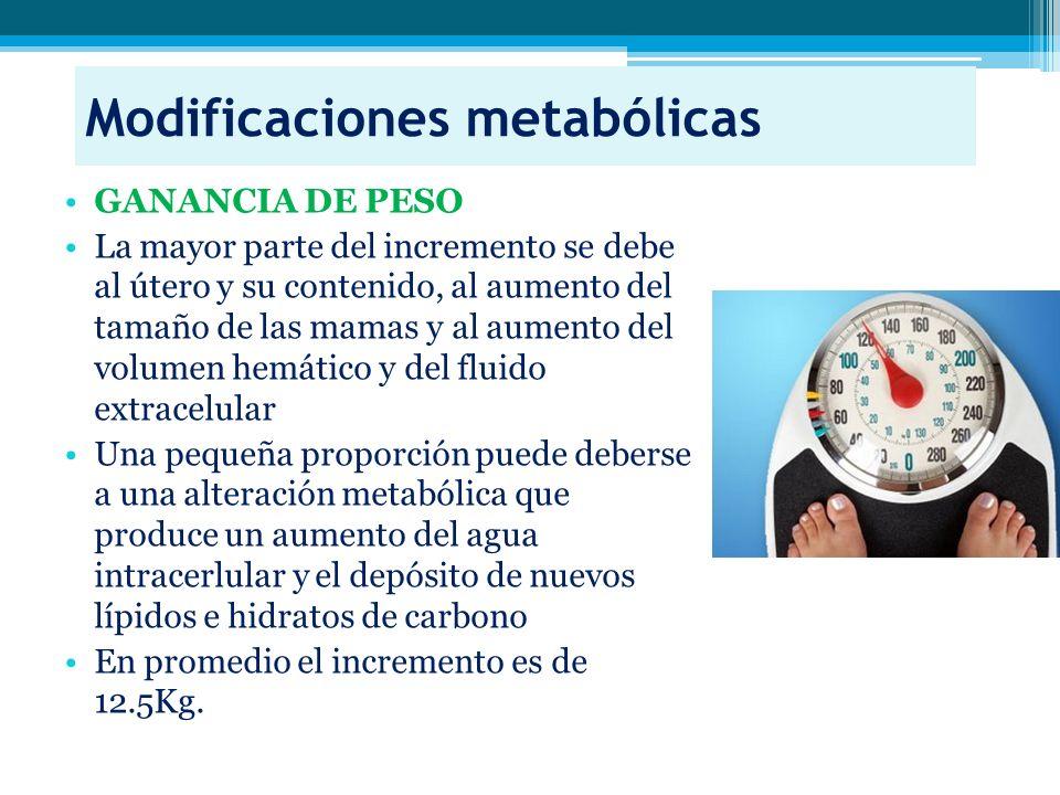 Modificaciones metabólicas