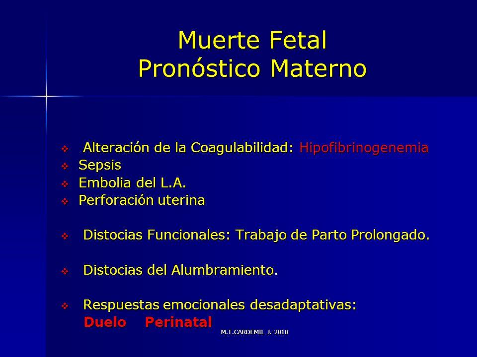 Muerte Fetal Pronóstico Materno