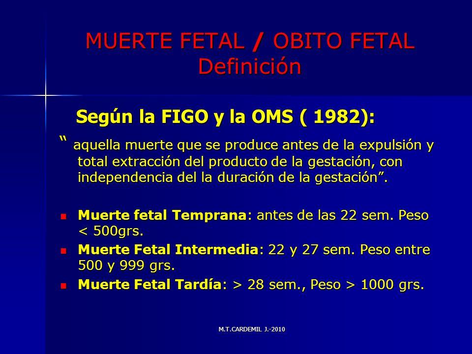 MUERTE FETAL / OBITO FETAL Definición