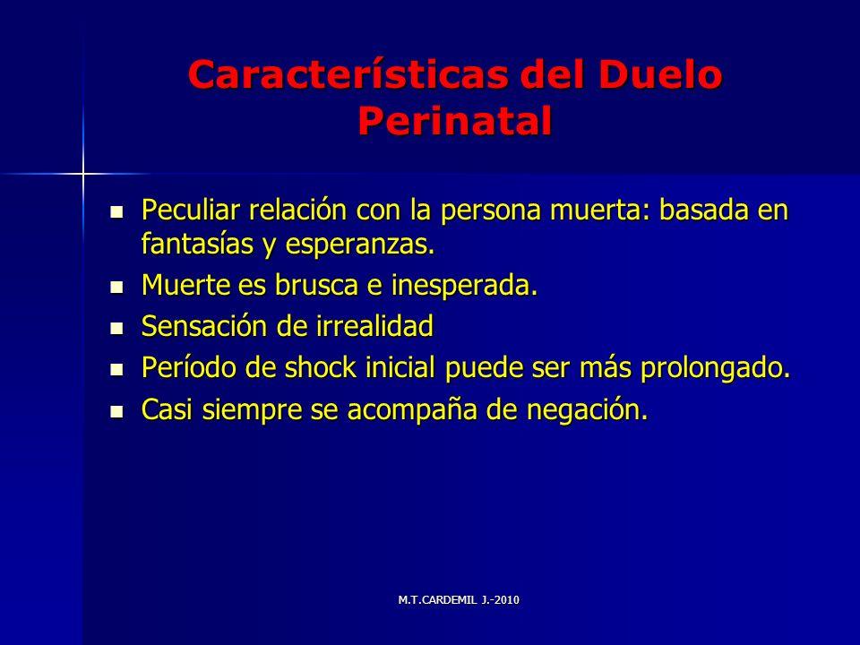 Características del Duelo Perinatal