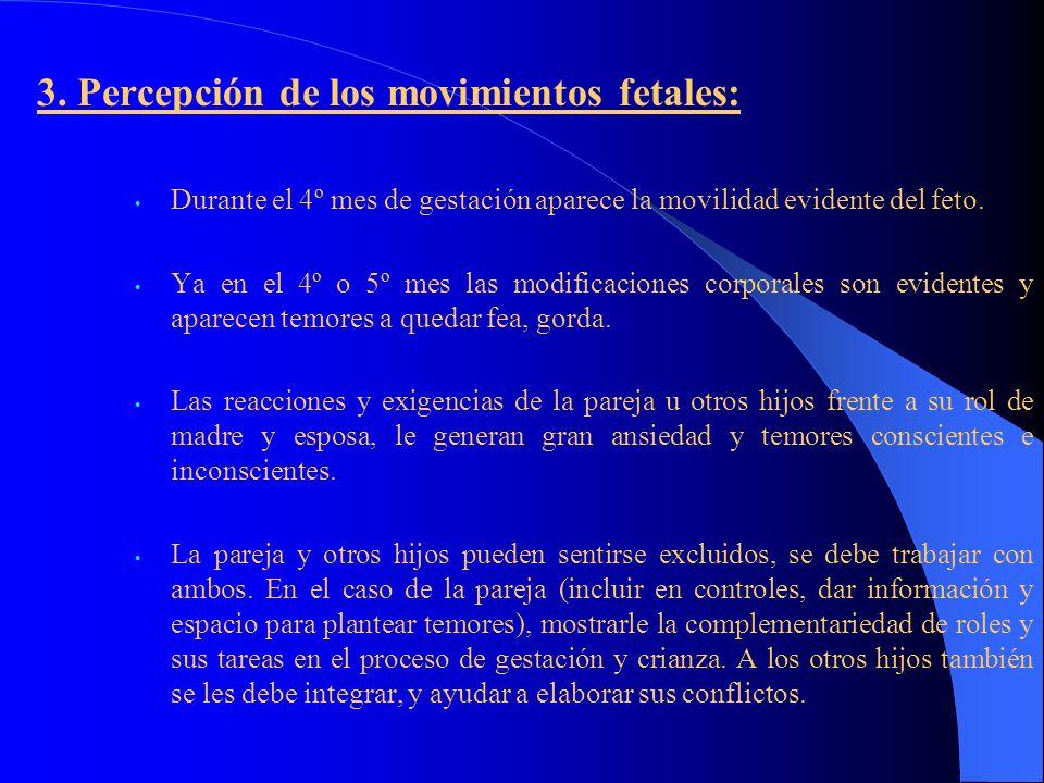 3. Percepción de los movimientos fetales: