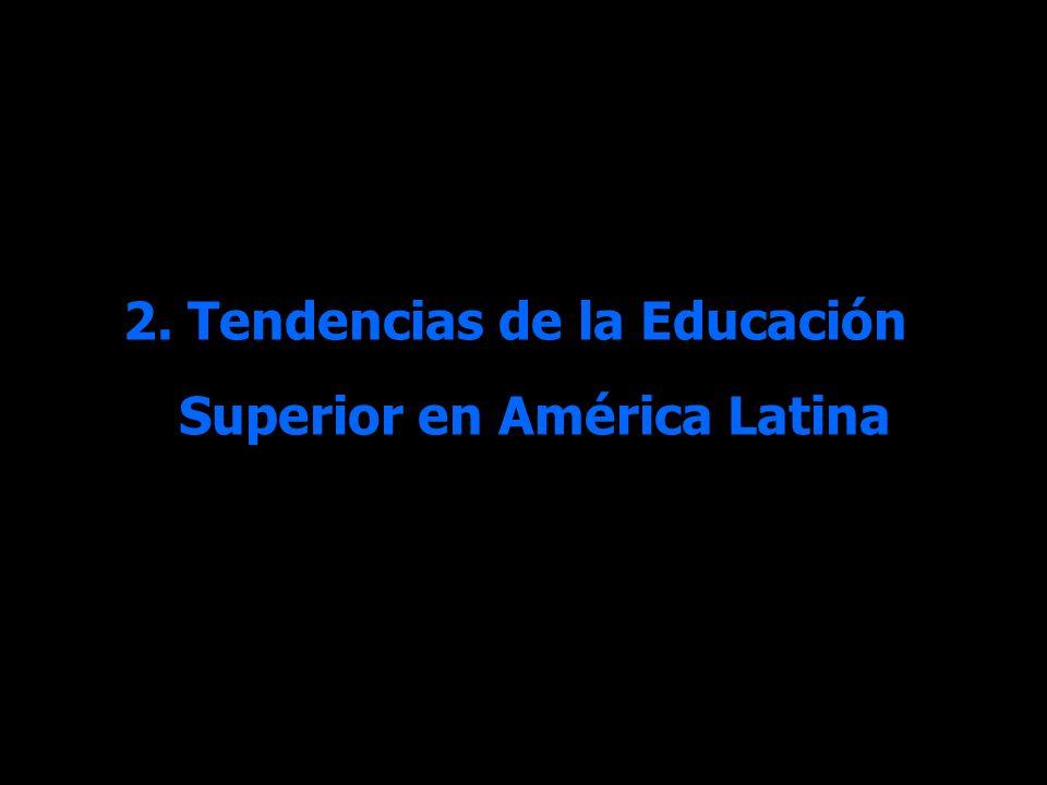2. Tendencias de la Educación Superior en América Latina