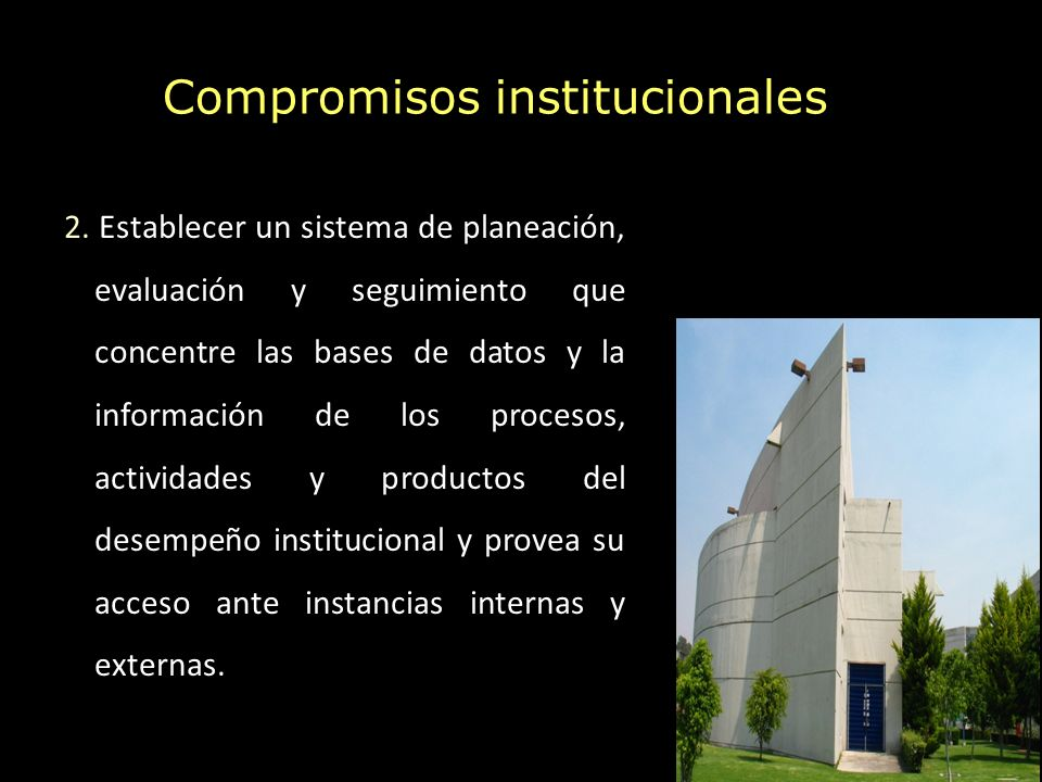 Compromisos institucionales