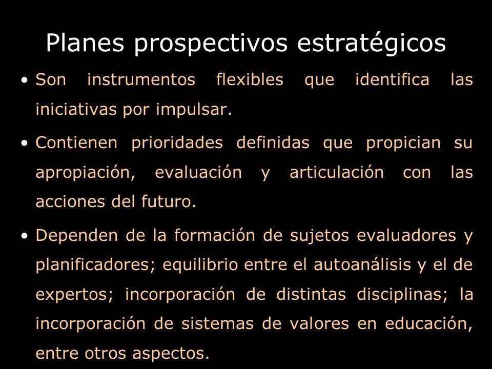 Planes prospectivos estratégicos
