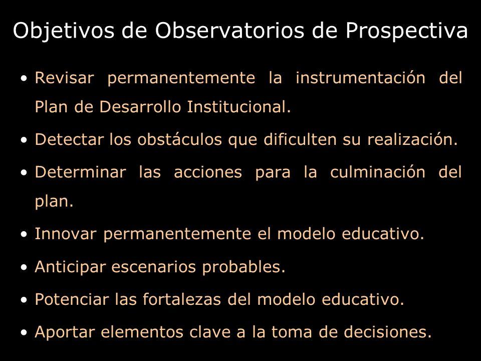 Objetivos de Observatorios de Prospectiva