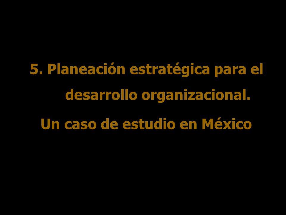 5. Planeación estratégica para el desarrollo organizacional.