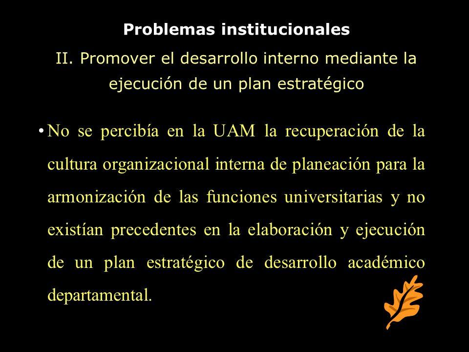 Problemas institucionales