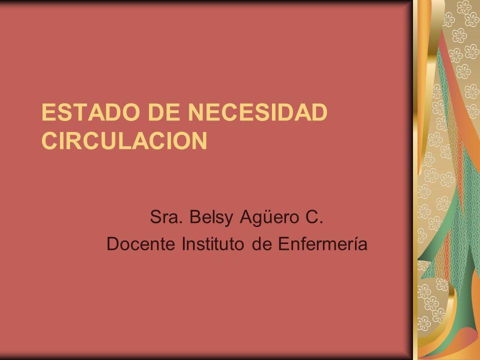 ESTADO DE NECESIDAD CIRCULACION