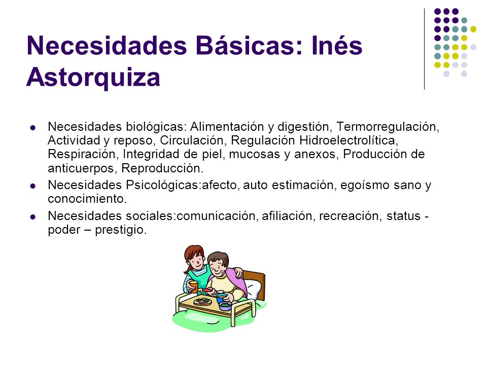 Necesidades Básicas: Inés Astorquiza