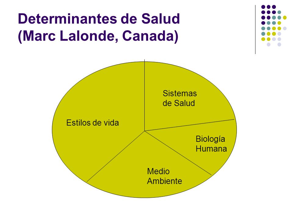 Determinantes de Salud (Marc Lalonde, Canada)