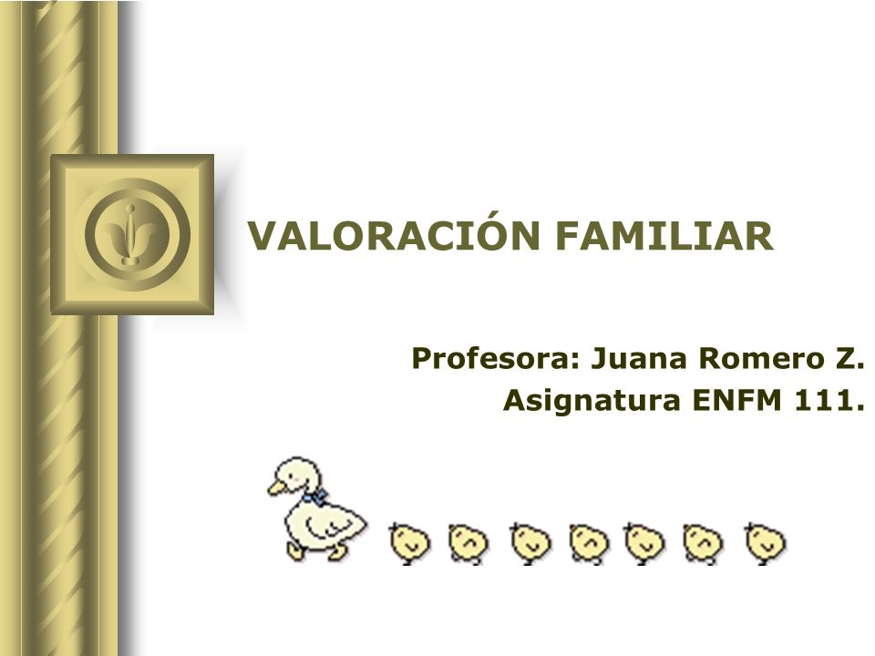 Profesora: Juana Romero Z. Asignatura ENFM 111.