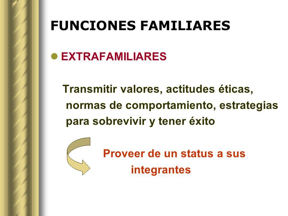 FUNCIONES FAMILIARES EXTRAFAMILIARES