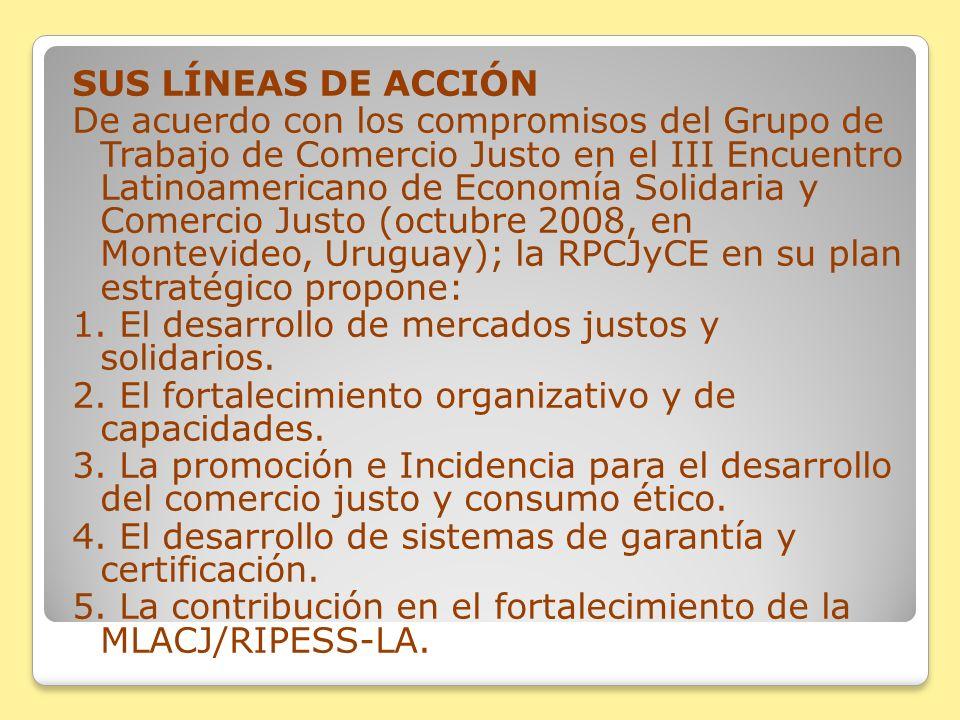 SUS LÍNEAS DE ACCIÓN