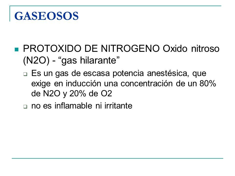 GASEOSOS PROTOXIDO DE NITROGENO Oxido nitroso (N2O) - gas hilarante