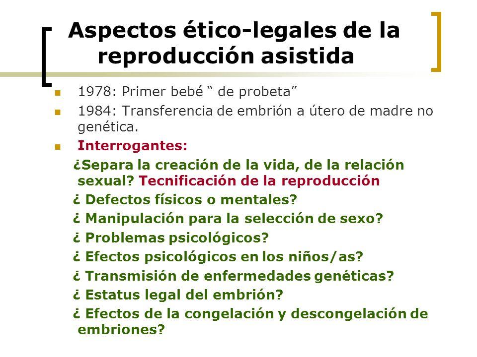 Aspectos ético-legales de la reproducción asistida