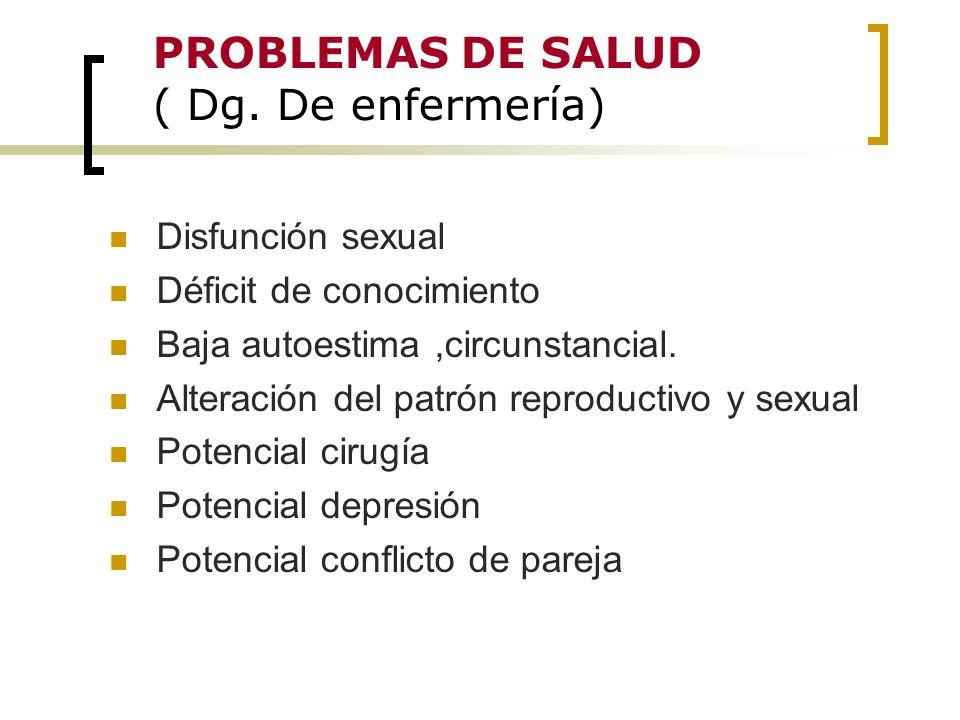 PROBLEMAS DE SALUD ( Dg. De enfermería)