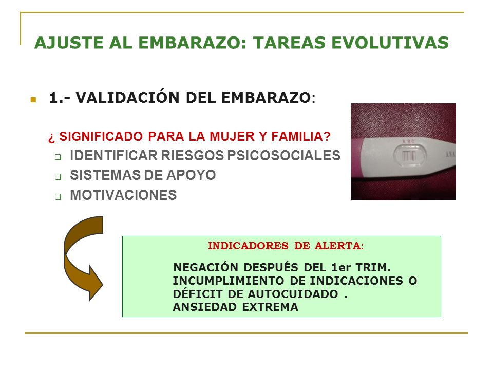 AJUSTE AL EMBARAZO: TAREAS EVOLUTIVAS